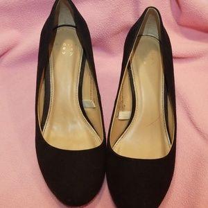 Shoes - Black faux suede wedges